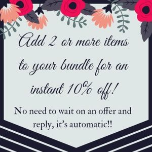 10% off all bundles - 2 or more items!!